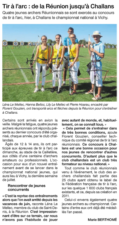 Article -Ouest France Challans